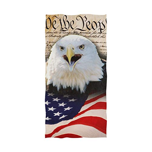 XiangHeFu Grotere washandjes, zeer absorberend, multifunctionele Amerikaanse vlag, glad brievenbus, ultrazachte badhanddoek