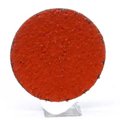 "3M Roloc Disc 777F - 36 Grit Ceramic Aluminum Oxide Grinding Disc - For Disc Sanders - Roloc Quick Change - Water Resistant YF-Weight Backing - 2"""