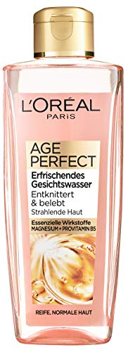 L'Oréal Paris Age Perfect Erfrischendes Gesichtswasser, Gesichtsreinigung für strahlende Haut, wirkt sanft zur Haut und mildert Müdigkeitszeichen, 200ml