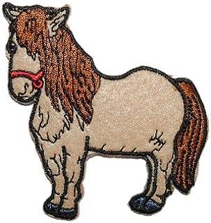 B/ügelflicken // Hosenflicken 7 cm * 7,2 cm gewebter Flicken alles-meine.de GmbH 1 St/ück /_ B/ügelbild Pferd // Pferdekopf Emblem Aufn/äher // Applikation // Aufb/ügler B/ügels..
