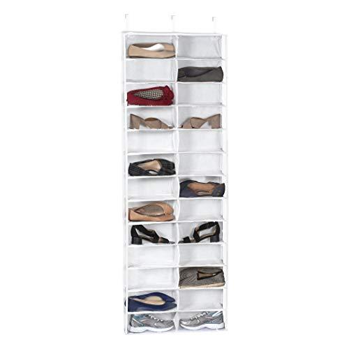 Richards Homewares Over The Door Shoe Organizer, 26-Pocket, Clear Vinyl