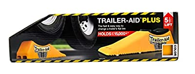 """Trailer-Aid """"Plus"""" Tandem Tire Changing Ramp, The Fast and Easy Way To Change A Trailer's Flat Tire, Holds up to 15,000 Pounds, 5.5 Inch Lift (Yellow)"""