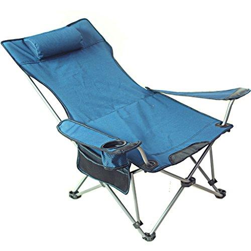 MUTANG Outdoor-Klappstuhl Angeln Stuhl Tragbare Sit Dual Zweck Stuhl Bett Camping Strandkorb (Farbe : Blau)