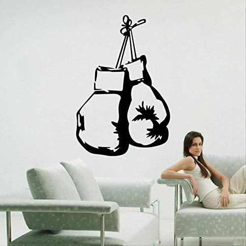 Muursticker, bokszak persoonlijkheid decoratie muur pasta jongen slaapkamer waterdicht sticker zwart 40 x 60 cm