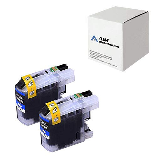 AIM Compatible Replacement for Brother LC-203BK2PKS Black High Yield Inkjet (2/PK-550 Page Yield) - Generic