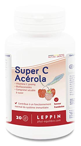 LEPPIN - Super C ACÉROLA 500mg - VITAMINE C FORTE - Antioxydant - Compléments alimentaires naturels