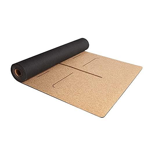 TPE Sistema de alineación del cuerpo de la estera de yoga antideslizante Original Air Corcho Yoga Mat Eco-Friendly Fitness Ejercicio Mat de la estera de entrenamiento para pilates y ejercicios de piso