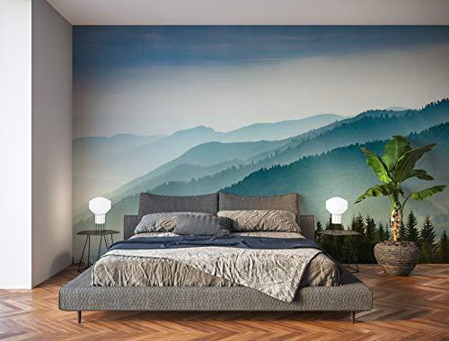 Oedim Fotomural Vinilo para Pared Paisaje Montañas   Mural   Fotomural Vinilo Decorativo   200 x 150 cm   Decoración comedores, Salones, Habitaciones