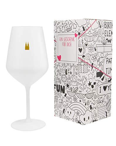 3forCologne | Weinglas aus hochwertigen Kristallglas | Souvenir Deutschland | Geschenkidee Muttertag, Vatertag, Gastgeschenk | Geschenkbox mit Textfeld | MADE IN GERMANY
