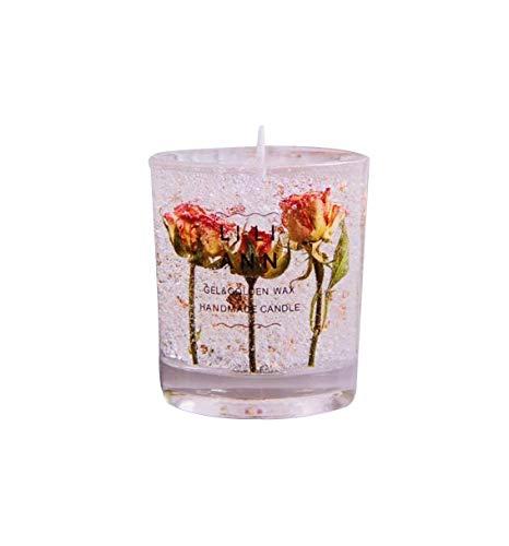 ZHFZD ZHFZDRosenduftkerzen, getrocknete ätherische Blumenöle eignen Sich zum Gedenken an Geburtstagsgeschenke