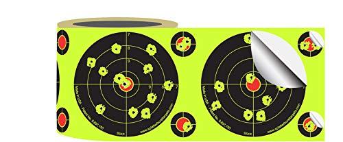 Splatterburst Targets - Roll of (200) 4 Inch Stick & Splatter Self Adhesive Shooting Target Stickers - Gun - Rifle - Pistol - Airsoft - BB Gun - Pellet Gun - Air Rifle - Made in USA