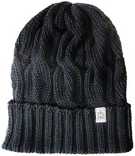inverallan インバーアラン [knit cap][cable][cotton][label tag][2c] (1.black)