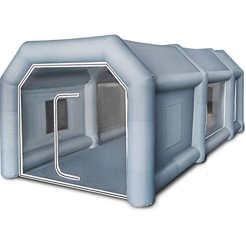 VEVOR 8x4,5x3m Aufblasbares Spray Booth Tent Zelt Luftzelt Campingzelt Lackierkabine 2 Gebläse