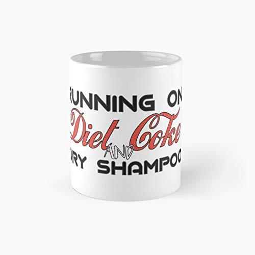 Taza clásica con champú de Coca-Cola y seco para correr en dieta | El mejor regalo divertidas tazas de café de 11 oz