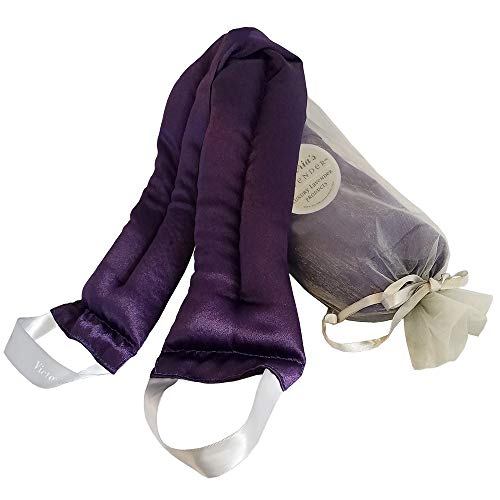 Victoria's Lavender Luxury Microwavable Aromatherapy Lavender Neck Wrap Provides Stress and Neck Pain Relief with Organic Lavender buds and Flax seed, Extra Long, Perfect Gift for Relaxation