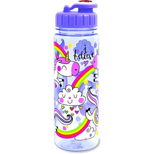 RACHEL ELLEN DESIGNS - Botella infantil grande de tritán Unicornio - RE-BOT6