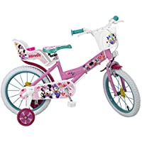 TOIMSA Niños Minnie–Bicicleta Infantil, Color Rosa, 16Pulgadas