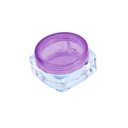 TININNA 25 Pcs 5ml 5 Gramme Pot Contenant en Plastique Vides Boîte Cosmétiquqe Maquillage Stockage Containers Jars pr Fard à Paupières Poudre Crèmes Violet