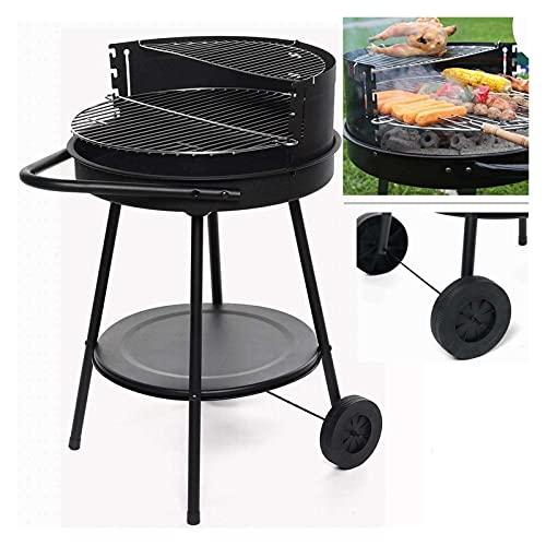 YNLRY 19 pulgadas ajustable al aire libre parrilla portátil de acero inoxidable barbacoa camping cocina calefacción estufa herramienta para patio al aire libre fiesta