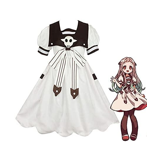 Zhongkaihua Disfraz de anime Nene Yashiro para niñas, disfraz de uniforme de traje de baño Hanako-kun anime de Halloween Lolita vestido gótico, juego completo de disfraz de Halloween para mujer