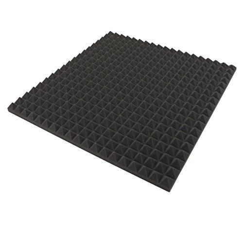 ECO Pyramiden 1 m² - 4 St. ca. 48cm x 48cm x 2,5 cm - Akustik Schaumstoff Dämmung,Schalldämmung,Tonstudio