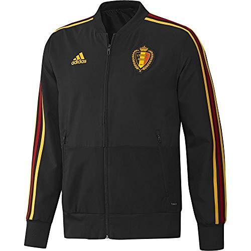 adidas Herren Belgien Jacke, Black/Bogold, XS
