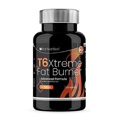 Extreme T6 - High Strength Fat Burners *Weight Management for Men & Women   Massive 2 Months Supplement Supply   *Vegetarian/Gluten Free   UK & GMP Certified