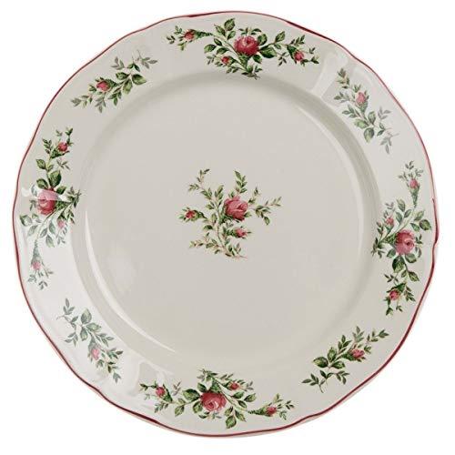 BLANC MARICLO' Bandeja para tarta MOSS ROSE bajo plato de cerámica A28483
