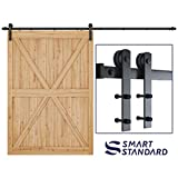 SMARTSTANDARD 10ft Heavy Duty Sturdy Sliding Barn...