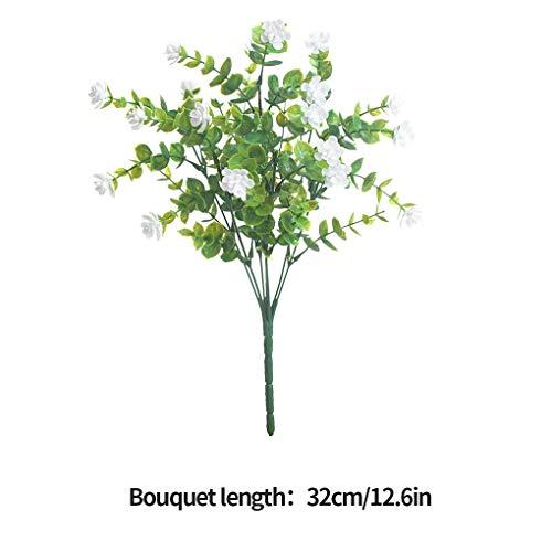 Plastikblumen-Bouquet Home Office Künstliche Blumendekor Hochzeit Garten Gefälschte Blume, Weiß - 4