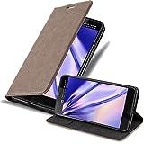 Cadorabo Hülle für HTC U Ultra in Kaffee BRAUN - Handyhülle mit Magnetverschluss, Standfunktion & Kartenfach - Hülle Cover Schutzhülle Etui Tasche Book Klapp Style