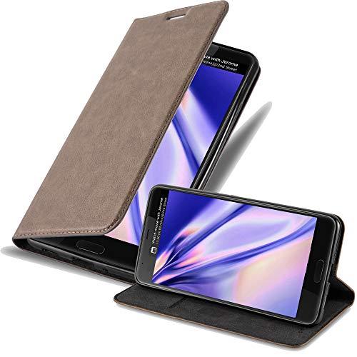 Cadorabo Hülle für HTC U Ultra - Hülle in Kaffee BRAUN – Handyhülle mit Magnetverschluss, Standfunktion & Kartenfach - Hülle Cover Schutzhülle Etui Tasche Book Klapp Style