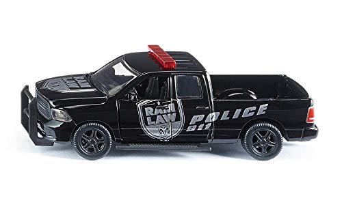 SIKU 2309, Dodge Ram 1500 Polizeiauto, 1:50, Metall/Kunststoff, Abnehmbare Reifen, Bewegliche Teile, Schwarz