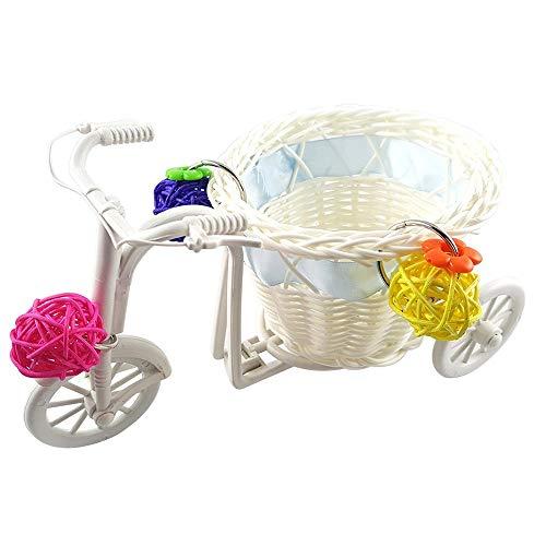 FZQ Papegaai Speelgoed Kinderwagen Simulatie Rotan Producten/Rotan Bal 21 * 11 * 11 cm Creative Intelligence Trainingsspeelgoed voor kleine en middelgrote papegaaien