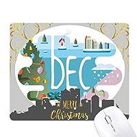 12月の月の光の季節のイラスト クリスマスイブのゴムマウスパッド