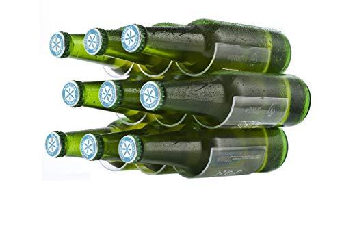 RakaStaka - Botellas de cerveza para ahorrar espacio, ideal para la nevera (1 paquete de 3) soporta 12+ botellas – como se muestra en Dragons Den