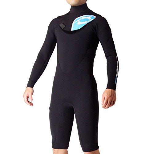 CYBER SHIELD(サイバーシールド) サーフィン用ウエットスーツ 502limited-TYPE-B 長袖スプリング ブラック ML