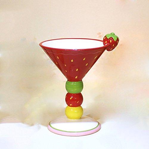 CS Cup Ice Cream Koffie Cup Champagne Cup Zoete Salade Cup Handgeschilderde Keramische beker Fruit Modellering Hoge capaciteit