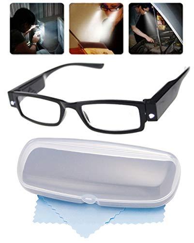 LED付きメガネ型拡大鏡 LEDライト付き拡大鏡【×1.6倍】ユニセックス男女兼用 拡大メガネ 虫眼鏡 ルーペ 拡大眼鏡 細かい作業に 夜の読書に
