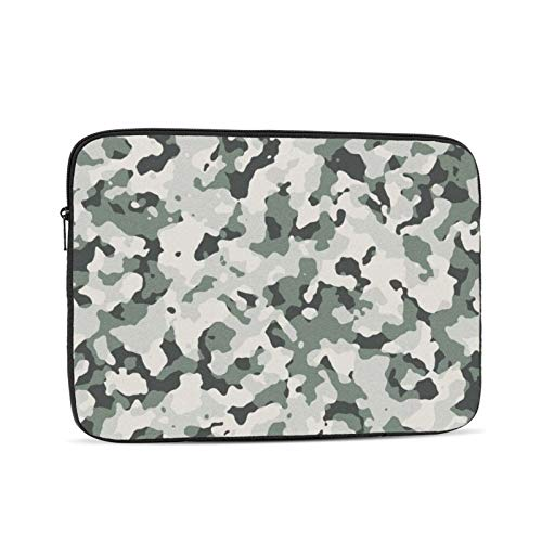 Camouflage Pattern Laptop Sleeve 13 inch, Shock Resistant Notebook Briefcase, Computer Protective Bag, Tablet Carrying Case for MacBook Pro/MacBook Air/Asus/Dell/Lenovo/Hp/Samsung/Sony
