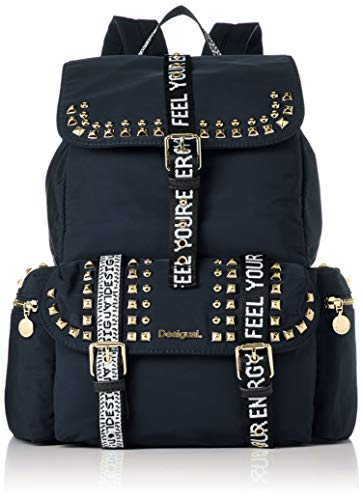 Desigual Back Bright Rock Tribeca Rucksack 36 cm Negro
