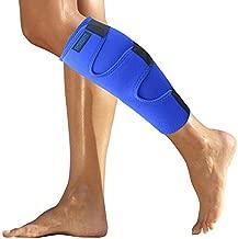 Calf Brace for Torn Muscle Injury Strain Tear - Shin Splint Support Wrap - Runners Neoprene Lower Leg Calf Compression Sleeve for Men and Women