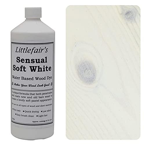 Littlefairs Holzlasur & Farbstoff auf Wasserbasis - Pastel Range (500ml, Weiß, Sensual Soft White)