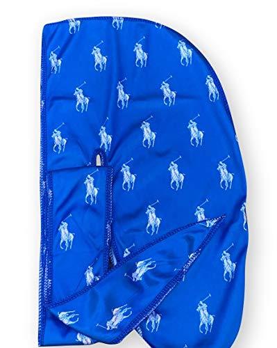 Silky Designer Durag – (Multiple Designs) | 360 Waves (Blue/White)