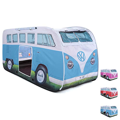 Board Masters Volkswagen Pop Up Kids Play Tent – UV50+ Outdoor Indoor Instant Beach Sun Shelter Tent for Kids Baby Toddler – VW Camper Van Bus - Multiple Colours