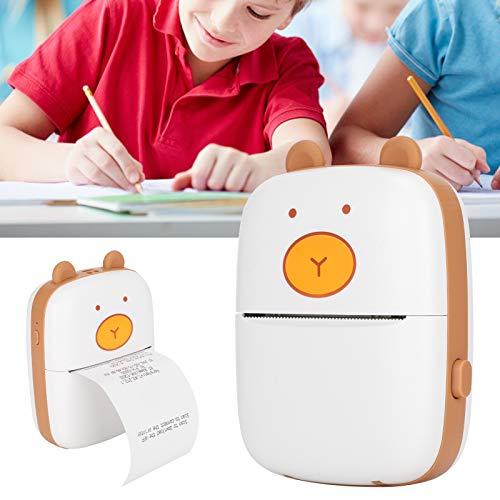 Impresora de Bolsillo, Mini Impresora fotográfica con conexión Bluetooth con Cable USB para Personal de Oficina para Viajes y Notas de Etiquetas para Estudiantes