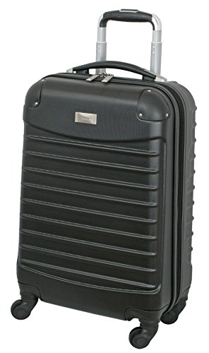 Geoffrey Beene 20 Inch Hardside Vertical Luggage, Black