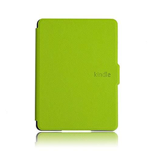 MoHHoM Kindle Cover,Smart Case Für Kindle 8 2016 Magnetische Abdeckung Für Kindle 8. Auto Sleep Und Wake Slim Funda Ereader Ebook, Grün