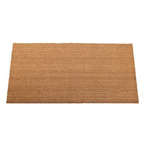 Coco Natural de Palm Felpudo del cojín del pie de Entrada Mat Protección Ambiental de eliminación de Polvo Antideslizante Mats Impermeables (Color : Amarillo, tamaño : 30X60CM)
