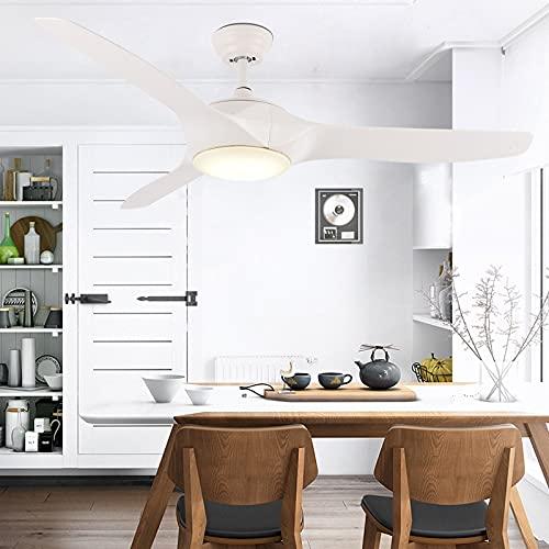 LIPENLI Ventilador de techo moderno de la sala con luces de 52 pulgadas Lámparas de ventilador Control remoto Iluminación elegante para el dormitorio Decoración del restaurante